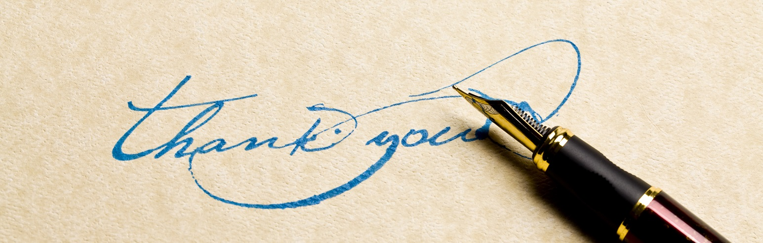 """Thank you written with fountain pen.To see more WEB HEADERS Photos, please click on banner below."""